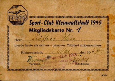 SportclubKleinwallstadt1945_AusweisNr1